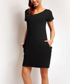 Loving this Black Shift Dress on #zulily! #zulilyfinds