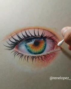 Realistic Pencil Drawings, Art Drawings Sketches Simple, Pencil Art Drawings, Cool Drawings, Amazing Drawings, Beautiful Drawings, Colorful Drawings, How To Draw Realistic, Colour Pencil Drawing
