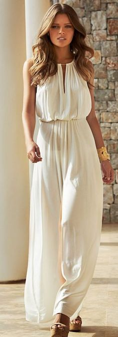 Cream Loose Jumpsuit