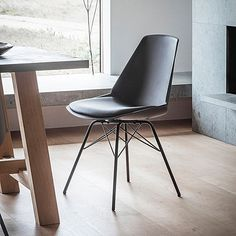 Padded Metal dinning chair in Black or Grey Uniquely contemporary styled chairs with padded sell style seats and stylish metal frames in a black or grey finish. Ideal to add a clean and modern look to your dining set. Black Dining Chairs, Metal Chairs, Dining Chair Set, Side Chairs, Dining Room, Room Kitchen, Dining Tables, Luxury Loft, Wood Bar Stools