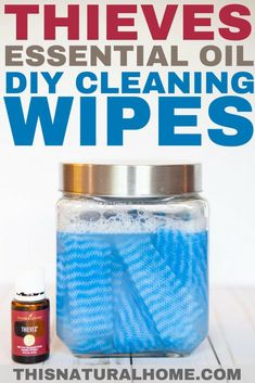 These thieves essential oil DIY cleaning wipes are perfect for the kitchen, bathroom, and really anywhere! Since they are all natural, you won't have to worry about your family handling toxic chemicals! Source by dodi Diy Cleaning Wipes, Deep Cleaning Tips, Toilet Cleaning, House Cleaning Tips, Natural Cleaning Products, Spring Cleaning, Cleaning Hacks, Diy Hacks, Cleaning Recipes