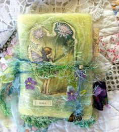 Needle felted fairy art journal http://www.etsy.com/shop/RosieInspirations