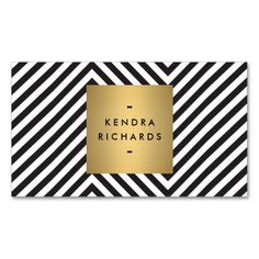 Retro Black and White Pattern Gold Name Logo Business Card Templates. This is a fully customizable business card and available on several paper types for your needs. You can upload your own image or use the image as is. Just click this template to get started!