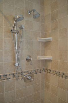 Modern shower tile. www.Mingrinosreliablecontracting.com