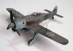 1/48 Dragon Focke Wulf Fw-190A6/8/9-R/11 by Rafi Ben-Shahar. Night Fighter role equipped with Neptun radar (see antennae sticking out from wings, cowl and fuselage)