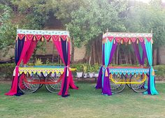 Indian Carts for Mehndi Night Decor The Effective Pictures We Offer You About wedding events schedule A quality picture can tell you many things. You can find the most beautiful pictures that can be p Indian Wedding Food, Indian Wedding Receptions, Desi Wedding Decor, Prom Decor, Wedding Stage Decorations, Wedding Mandap, Wedding Events, Wedding Ideas, Holi Party