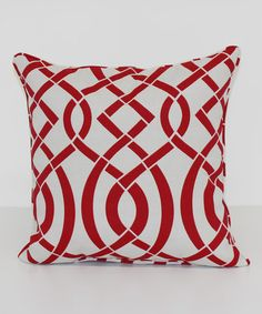 Another great find on #zulily! Empire Red Square Throw Pillow #zulilyfinds