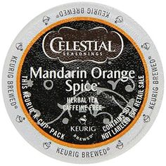 Celestial Seasonings Mandarin Orange Spice Herbal Tea KCup 48 Count Case for Keurig Brewers ** Read more reviews of the product by visiting the link on the image.