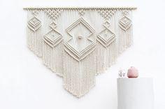 XL Macrame colgante cama arte colgando de la pared de