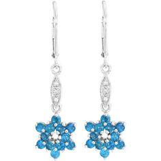 Begehrenswerte #Ohrringe in #Blau von #Juwelo. Die verspielte Form harmoniert mit der lebendigen Farbe. <3 ab 99,00 €