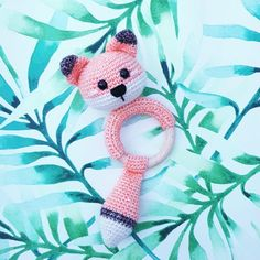 Crochet Lion, Crochet Baby Toys, Crochet Home, Crochet For Kids, Crochet Ring Patterns, Amigurumi Patterns, Newborn Toys, How To Make Toys, Baby Rattle