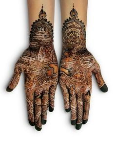 Architecture of the world in mehndi