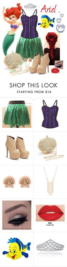 """""""Ariel - The Little Mermaid"""" by evii-chase ❤ liked on Polyvore featuring Vivienne Westwood, Gemelli, Smashbox, Jay Franco & Sons and Bling Jewelry"""
