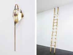"""Tarik Kiswanson, Crossing Series (detail), 2014 (left) and Runner, 2015 (right), courtesy of the artist and Almine Rech Gallery. From Artsy's """"50 Must-See Fall Gallery Shows"""""""