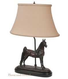 American Saddlebred Horse Table Lamp Lamps - Lamps - By OK Castings #1090-BE-VG at Horse and Hound Gallery