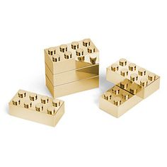 This Executive Building Brick Set has 8 2x4 stud building bricks and can be incorporated with your other bricks to build all sorts of shiny custom creations.