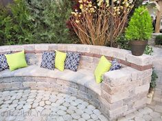 Paver Bench, bench made out of pavers and retaining wall. – Jodi Wittnebel Paver Bench, bench made out of pavers and retaining wall. Paver Bench, bench made out of pavers and retaining wall. Outdoor Seating, Outdoor Spaces, Outdoor Living, Outdoor Decor, Garden Seating, Extra Seating, Backyard Patio, Backyard Landscaping, Patio Stone