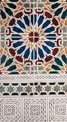 The famous Moroccan Zellige pattern.