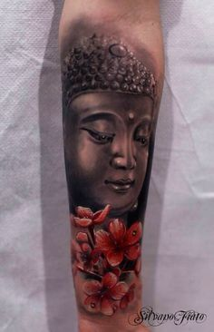 Here's another alternative to the Buddha and Cherry blossom combination. This one can be inked on your arms.