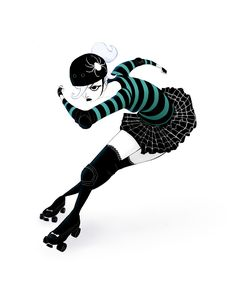 Roller Derby girl by Frédéric Mao #rollerderby #rollergirl