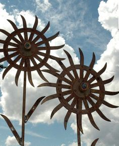 Garden Art – reclaimed iron