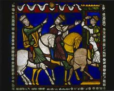 Magi following a star, 12th century stained glass, Poor Mans Bible window  north choir aisle, Canterbury cathedral, Kent, England, Great Britain Medieval Stained Glass, Stained Glass Church, Stained Glass Paint, Stained Glass Windows, Wine Bottle Wall, Wine Bottles, Canterbury Cathedral, Needlepoint Designs, Glass Wall Art