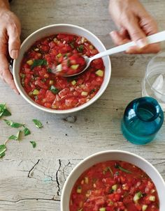 Beating The Heat: Spicy Watermelon Gazpacho
