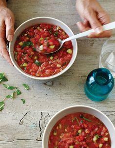 Beating The Heat: Spicy Watermelon Gazpacho