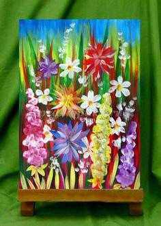 Как нарисовать цветы гуашью для детей от 5 лет поэтапно с фото