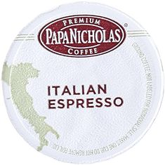 PapaNicholas Coffee Single Serve Coffee Cups Fits Keurig K Cup Brewers, Italian Espresso, 24 Count -- Read more  at the image link. (This is an affiliate link and I receive a commission for the sales)