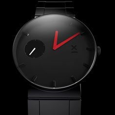 Dutch Identity (@dutchidentity) op Instagram: 'Red handed and blacked out. Freeform 3D concept modeling of a watch #concept #watch #watches…'
