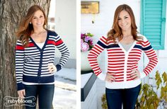 Striped Cardigan - 2 Colors Available  56% off at Groopdealz