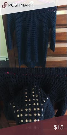 Off the neck black sweater! Super cute!! Says size small but fits like a S/M Sweaters Crew & Scoop Necks
