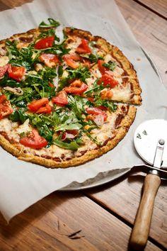 The Chubby Vegetarian: Gluten-Free Cauliflower Pizza Crust