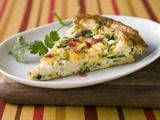 Loaded with vegetables and lightened up with egg whites and turkey bacon, this easy frittata recipe is a perfect dish for Mother's Day Brunch