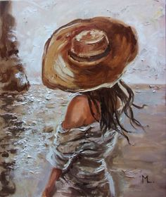 Sky sea sand light original oil painting, gift, palette knife, oil painting by monika luniak on artfinder. discover thousands of other original paintings, Painting & Drawing, Watercolor Paintings, Buy Paintings, Original Paintings, Figure Painting, Painting Inspiration, Art Inspo, Beautiful Paintings, Figurative Art