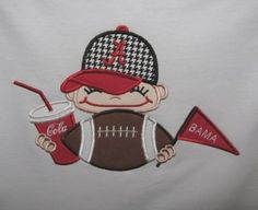 Boy's Football Fan in Hat Tshirt by pattycakesnplaymates on Etsy, $24.00