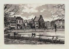 Den Haag, Prisoners gate, etching