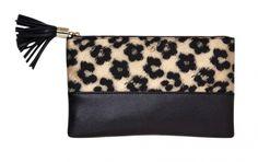 Kate Hudson for Ann Taylor Floral Leapard Clutch