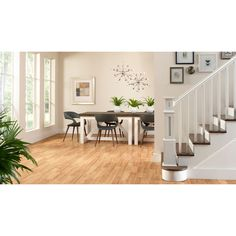 Shop Style Selections 8 05 In W X 3 97 Ft L Ginger Hickory Smooth Laminate