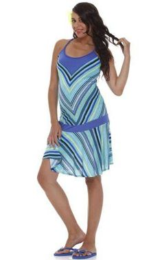 Funky maternity halter dress from Jules & Jim Maternity. Just add flipflops to stay cool this summer!