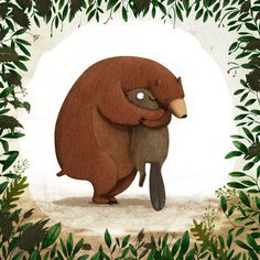 Hug me, please / childrens book by Emilia Dziubak, via Behance