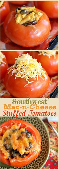 These fun and easy Southwest Mac and Cheese Stuffed Tomatoes are ready in 30 minutes and will impress your family! #MACNATOR #sponsored