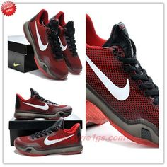 hot sale online f3542 b569c Cheap 653972-615 Red   Black Nike Kobe 10 Deep Garnet J3367F