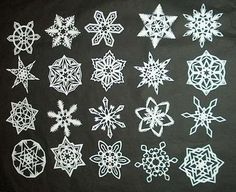 This step by step guide will teach you how to make SIX pointed paper snowflakes. Most people make (and most how-tos teach) snowflakes with four or eight points. Real snowflakes in nature form with six points (or occasionally three if they formed weird) Paper Snowflakes, Christmas Snowflakes, Noel Christmas, All Things Christmas, Winter Christmas, Real Snowflakes, Paper Stars, Christmas Paper, How To Make Snowflakes