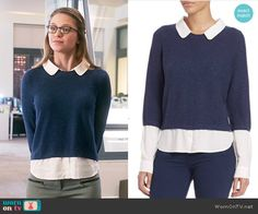 Joie Thevenette Sweater worn by Melissa Benoist on Supergirl Classy Outfits, Cool Outfits, Casual Outfits, Fashion Tv, Fashion Outfits, Supergirl Outfit, Kara Danvers Supergirl, Librarian Style, Melissa Benoist