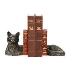 2 Piece Napping Cat Bookend Set