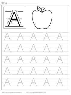 Handwriting Worksheets for kids, handwriting worksheets free printable, kids handwriting worksheets Free Printable Handwriting Worksheets, Handwriting Worksheets For Kindergarten, Preschool Letters, Printable Letters, Alphabet Worksheets, Kindergarten Worksheets, Alphabet Crafts, Alphabet Letters, Spanish Alphabet