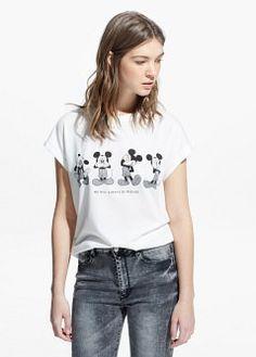 T-shirt met Mickey print