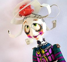 Ooak art doll miniature clay jointed dollSaturnathe by GufoLab, €40.00